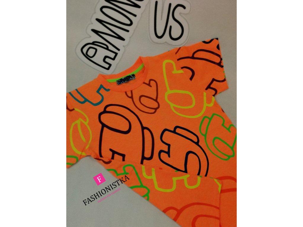 AMONG US orange tričko