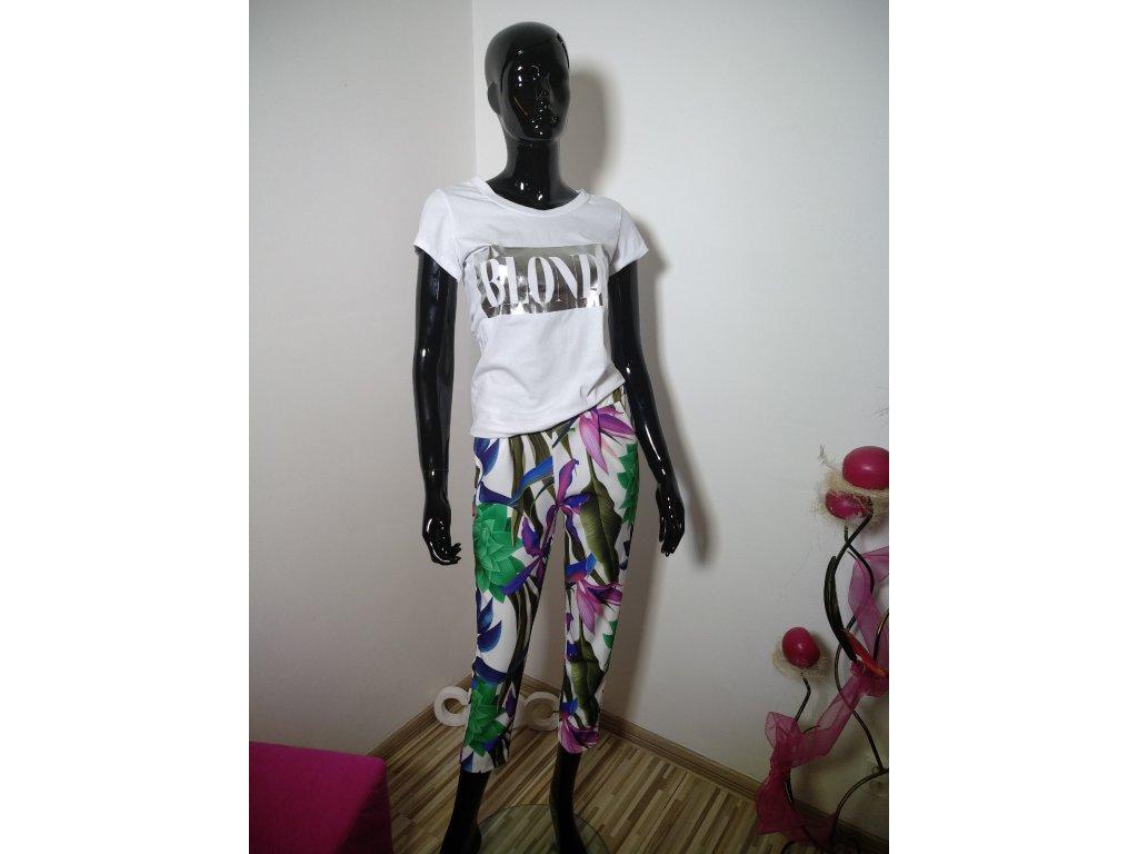 Elegantní vzorované kalhoty