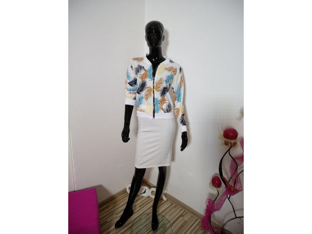 Bíla bavlněná sukně