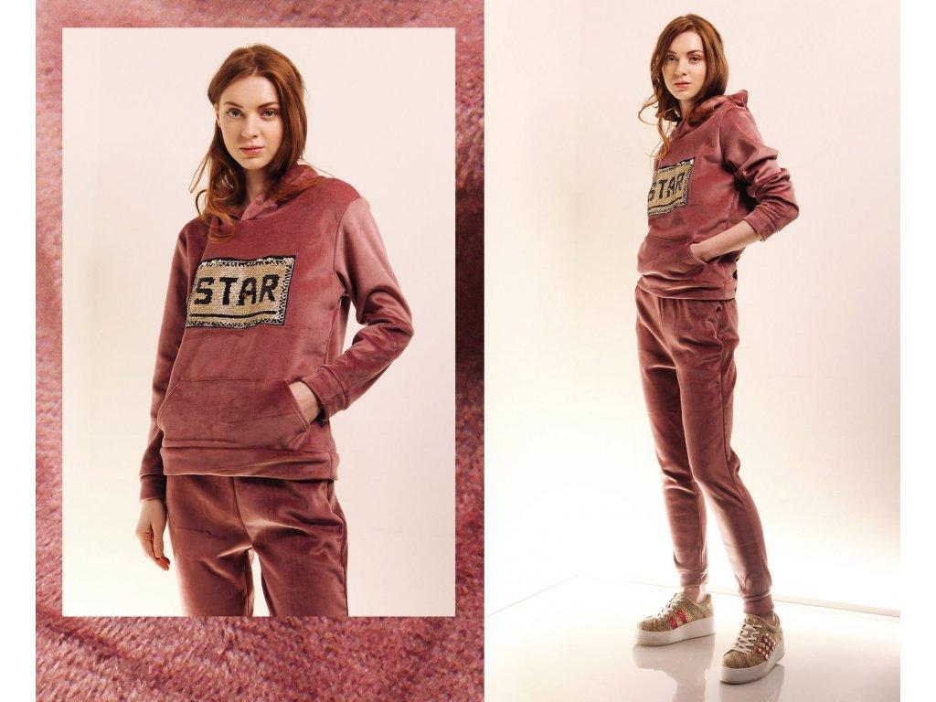 Fashionistka: SOUPRAVA tepláková STAR růžová