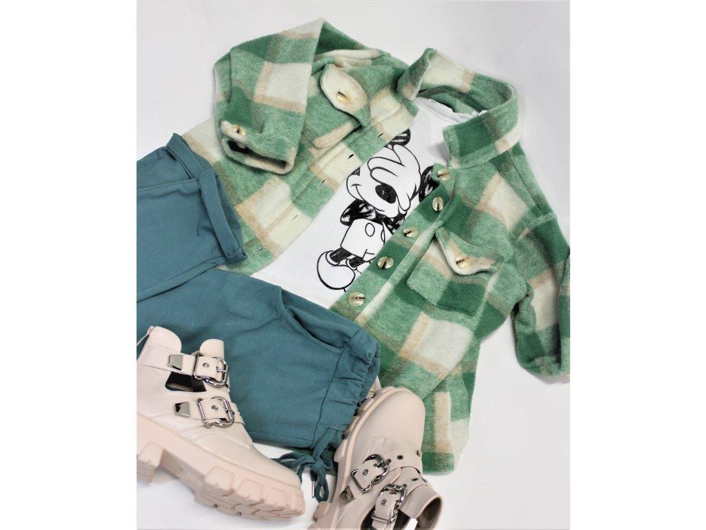 Fashionistka: KABÁT krátký košilový zelený