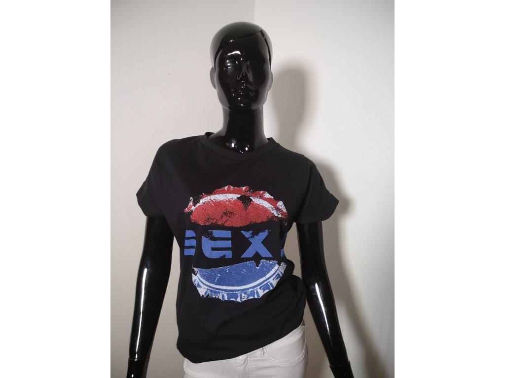 Bavlněné tričko s nápisem SEXY