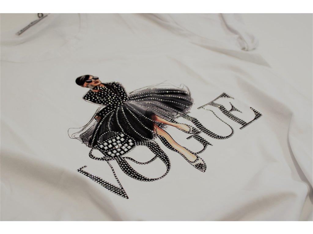 Fashionistka: TRIČKO s nápisem VOGUE bílé