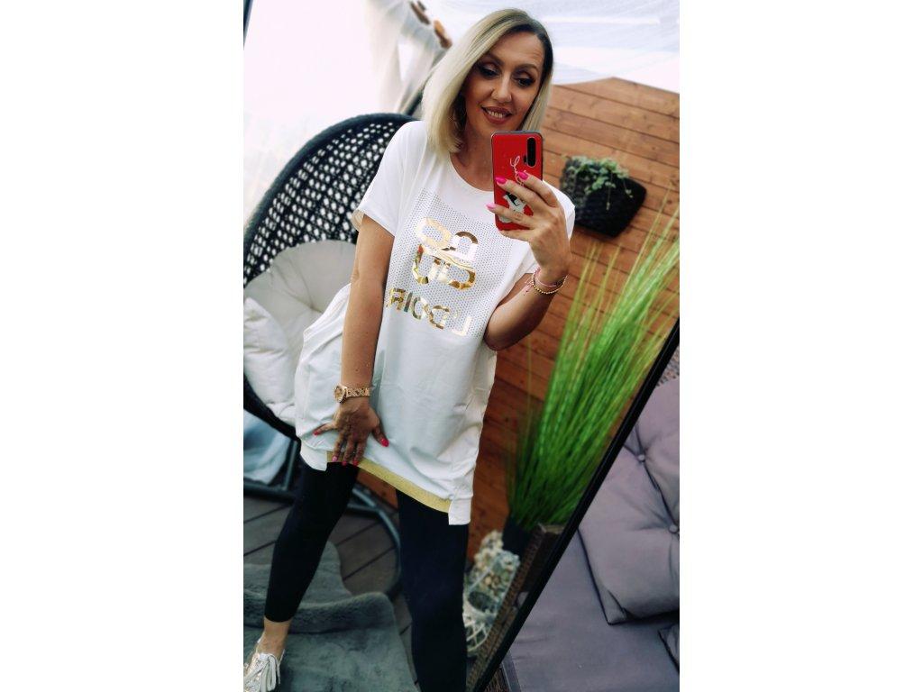 TUNIKA dámská GOLD/ bílá
