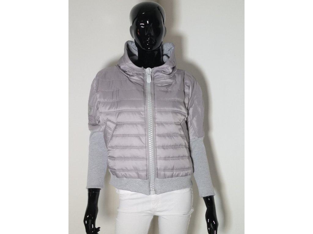 Luxusní krátká bunda stříbrná