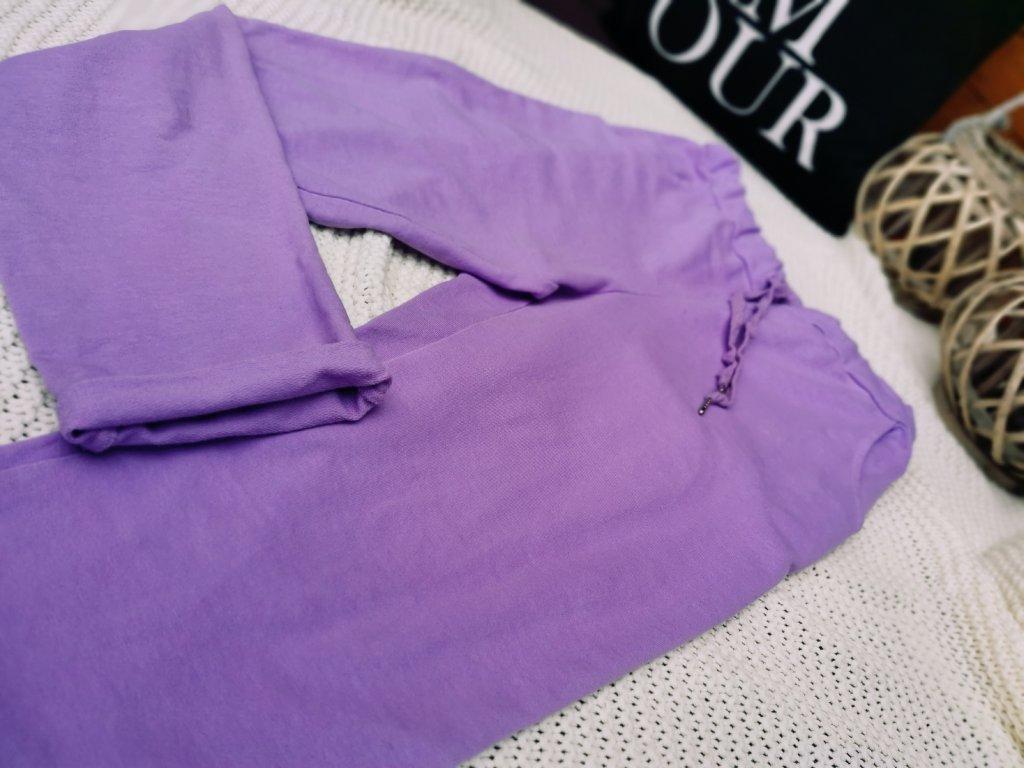 Kalhoty dámské/ fialové