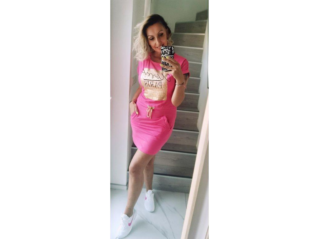 Sportovní šaty PARIS /růžové