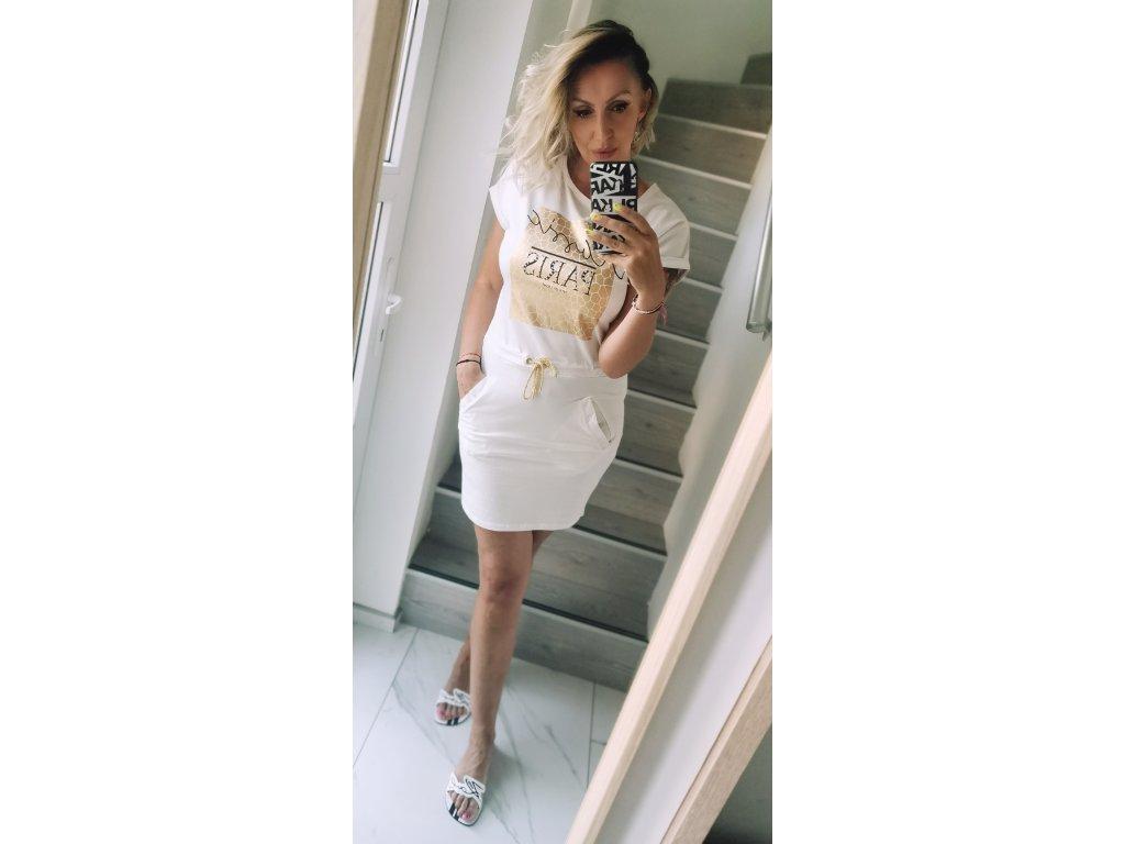 Sportovní šaty PARIS / bílé