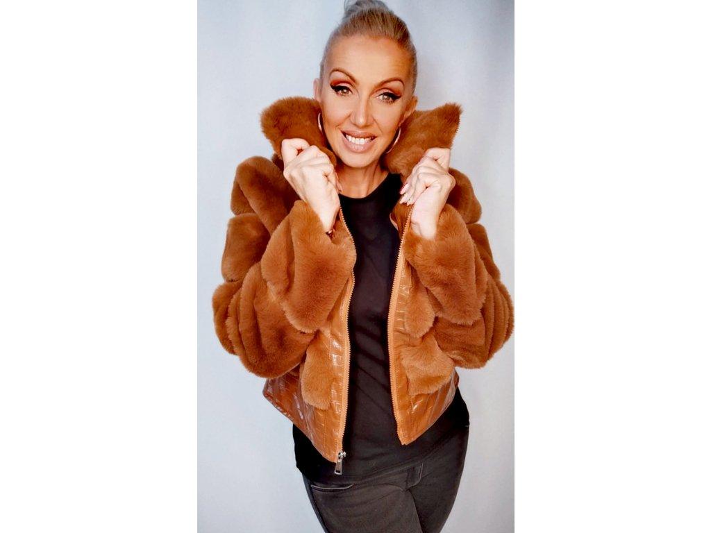 Fashionistka: Podzimní bunda s kožíškem.
