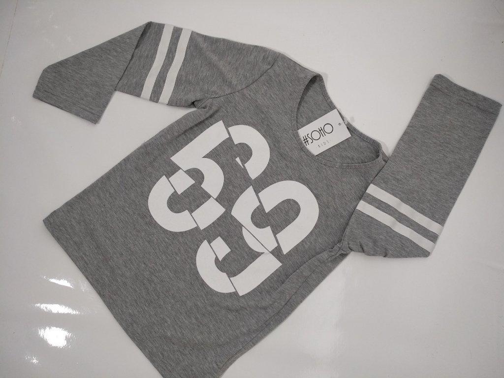 """Klučičí šedé triko s číslem """"69"""" značky SOHO"""