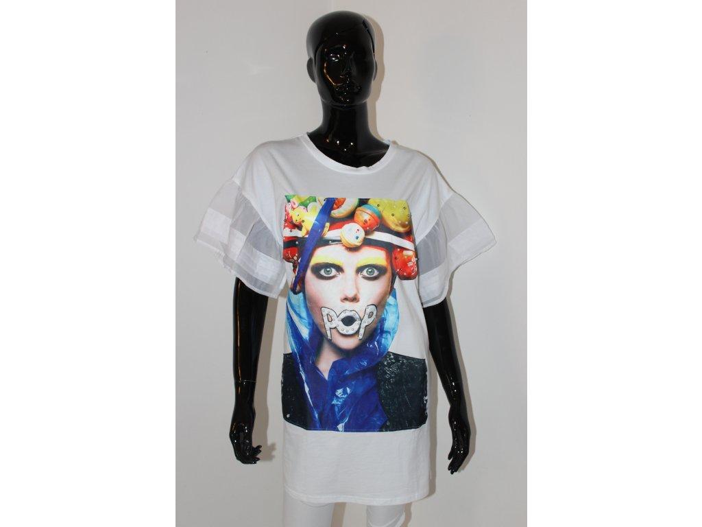 Fashionistka: ŠATY s výraznou aplikací bílé