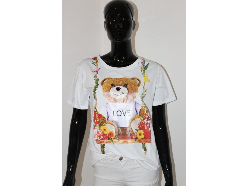 Tričko bílé s medvídkem