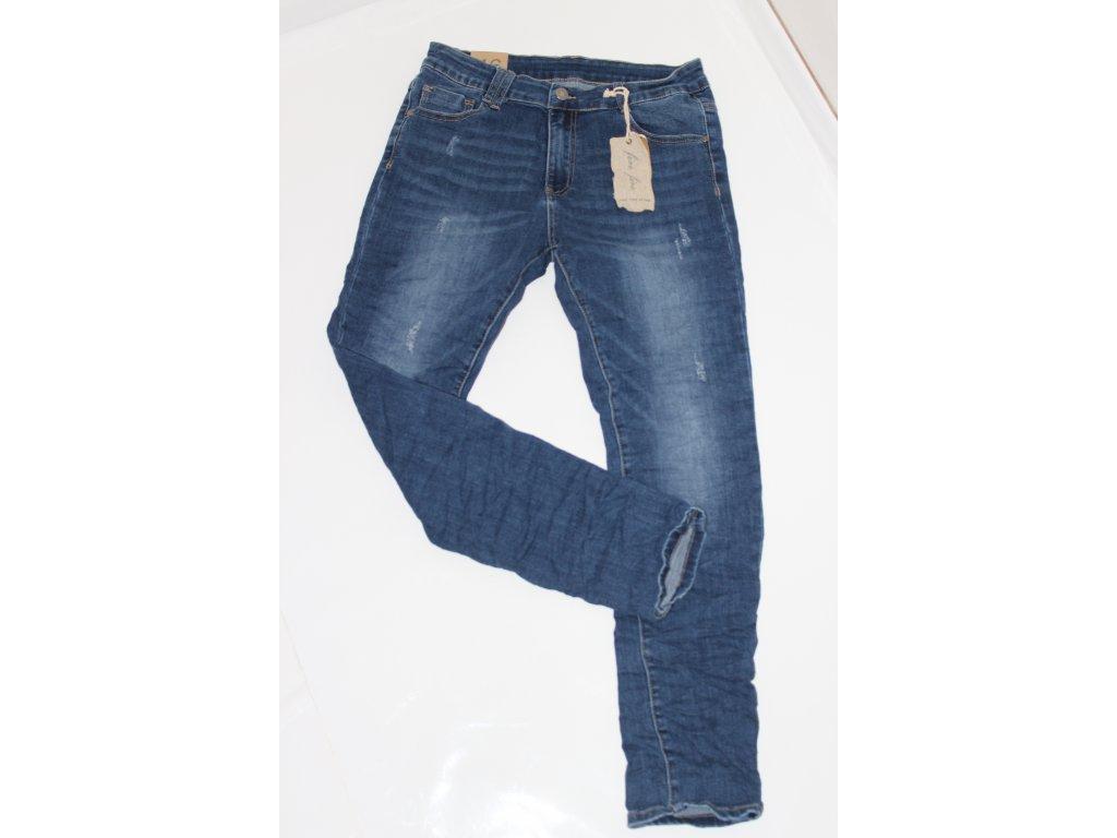 džíny tmavé modré