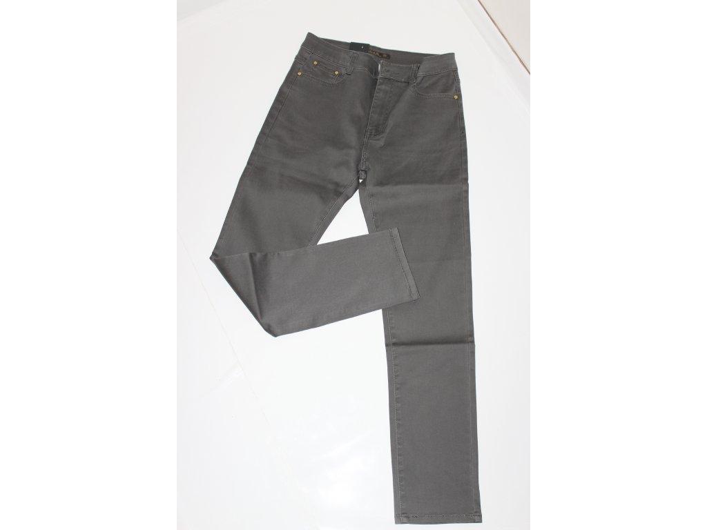 Kalhoty s vysokým pásem v šedé barvě