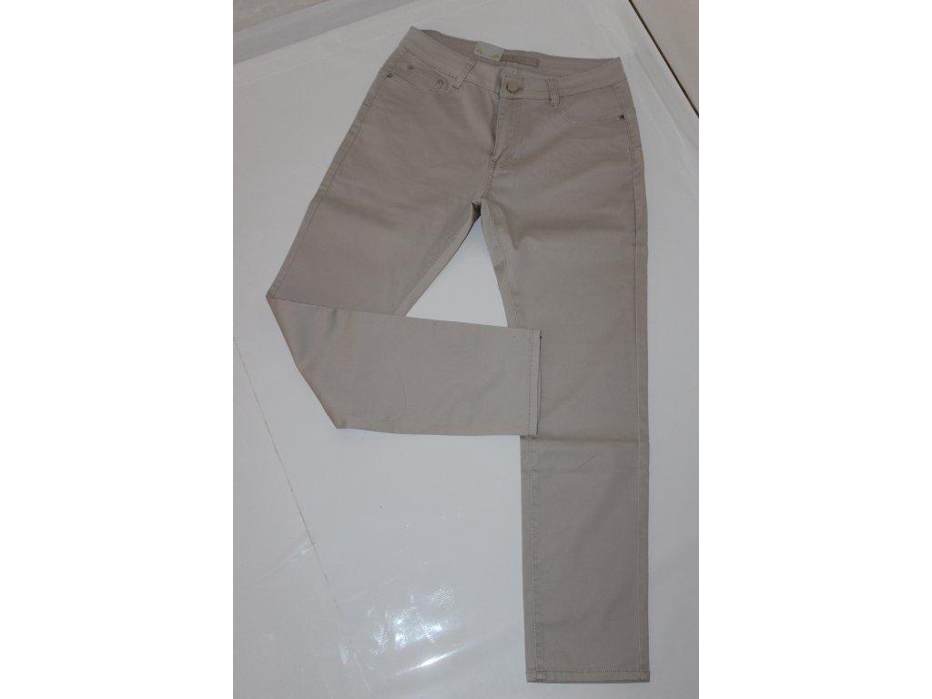 Kalhoty s vysokým pásem v béžové barvě