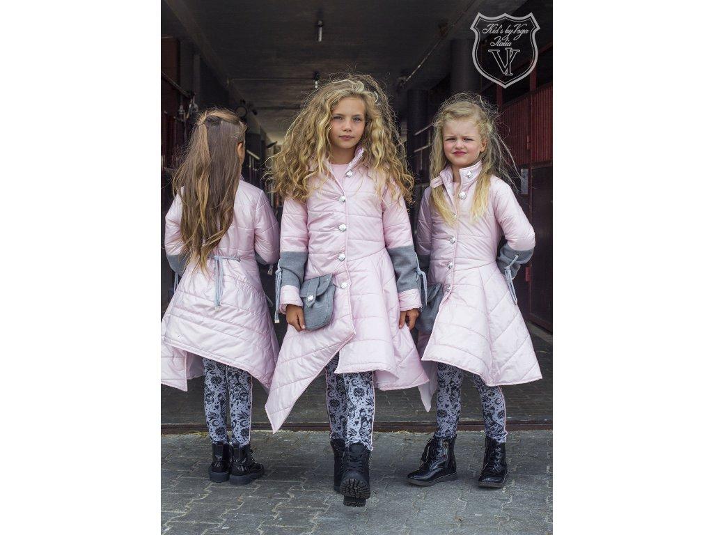 Fashionistka: KABÁTEK holčičí luxusní růžový