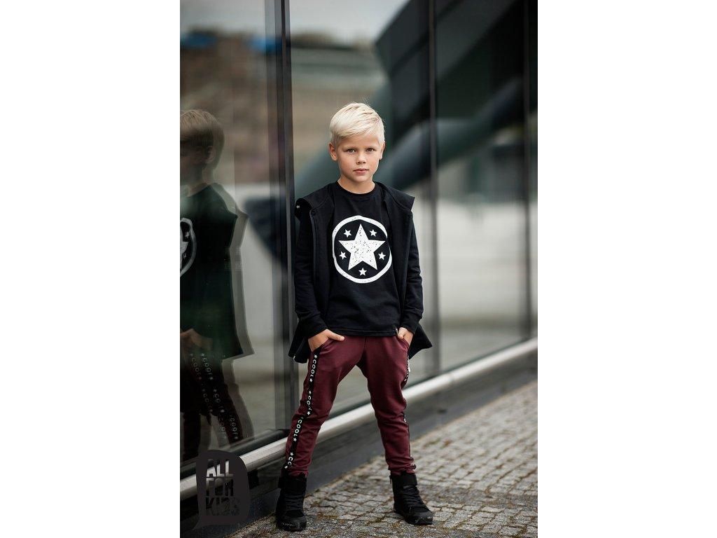 Tričko černé s bílou hvězdou