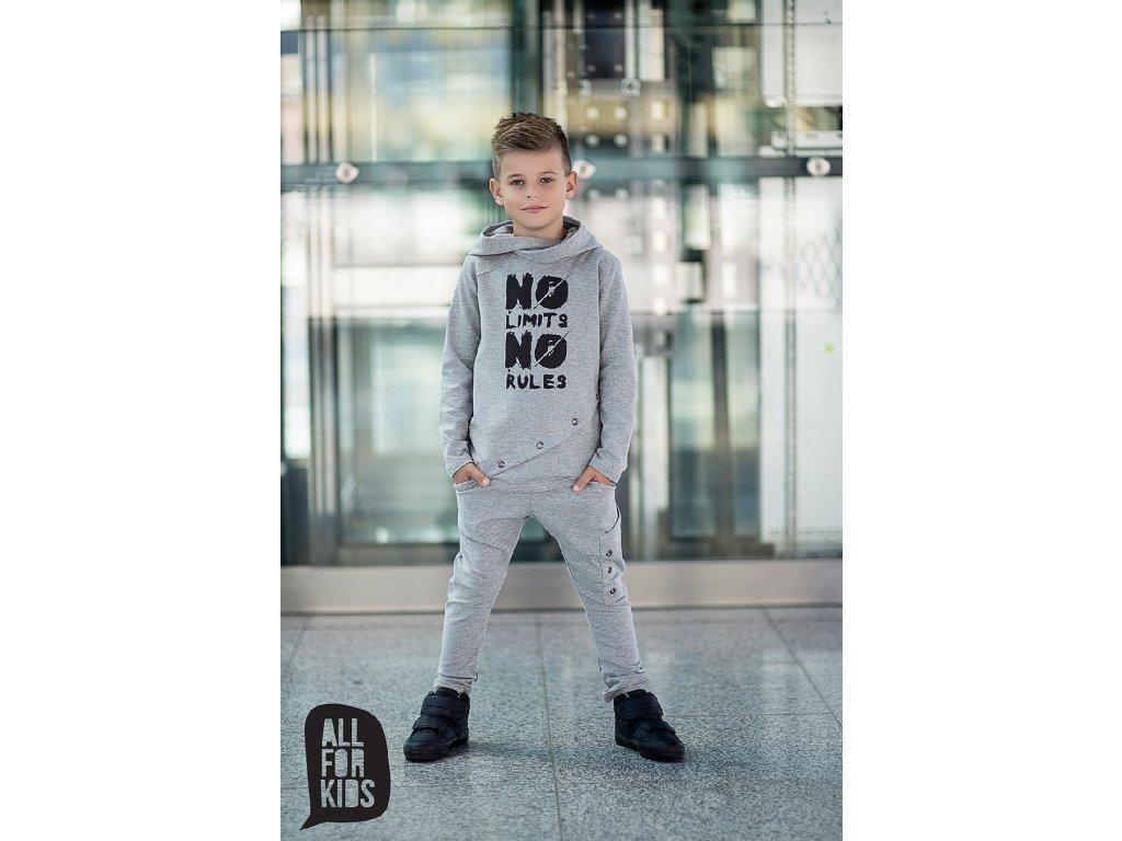 Fashionistka: SOUPRAVA klučičí ALL FOR KIDS šedá