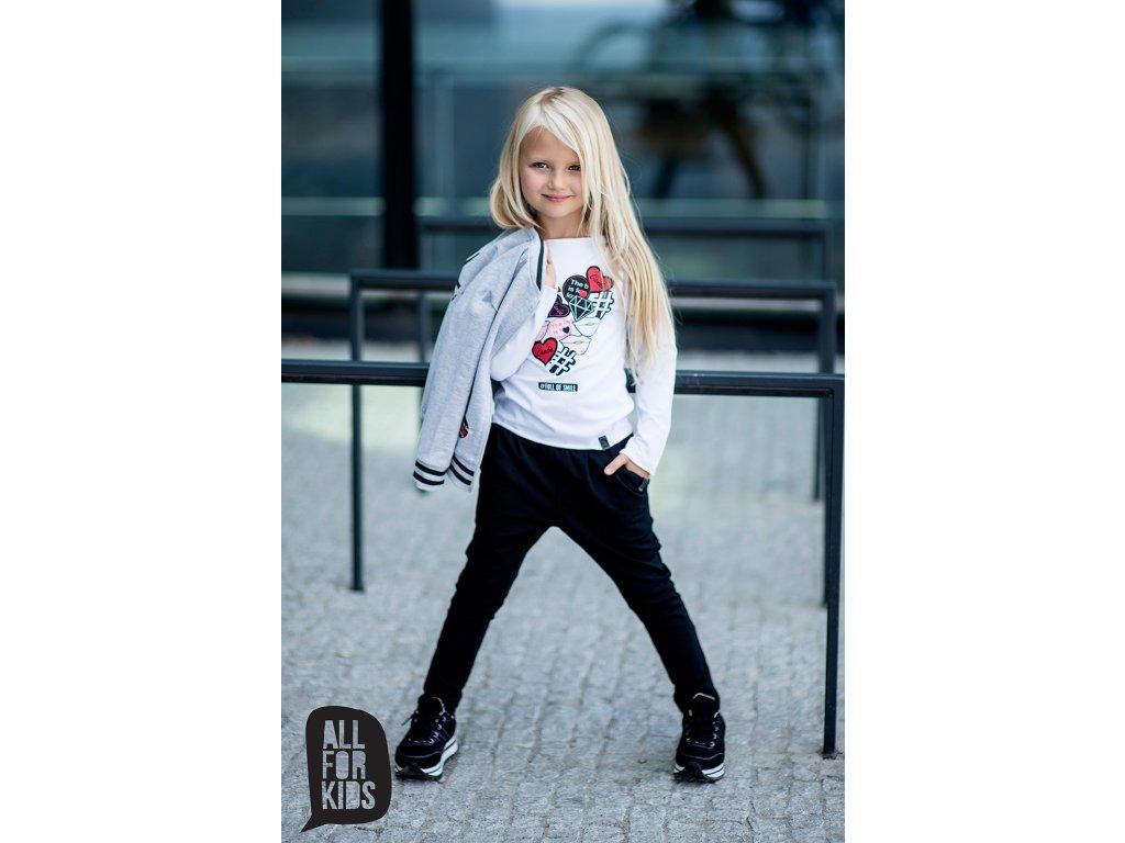 Fashionistka: TEPLÁKY dívčí ALL FOR KIDS černé