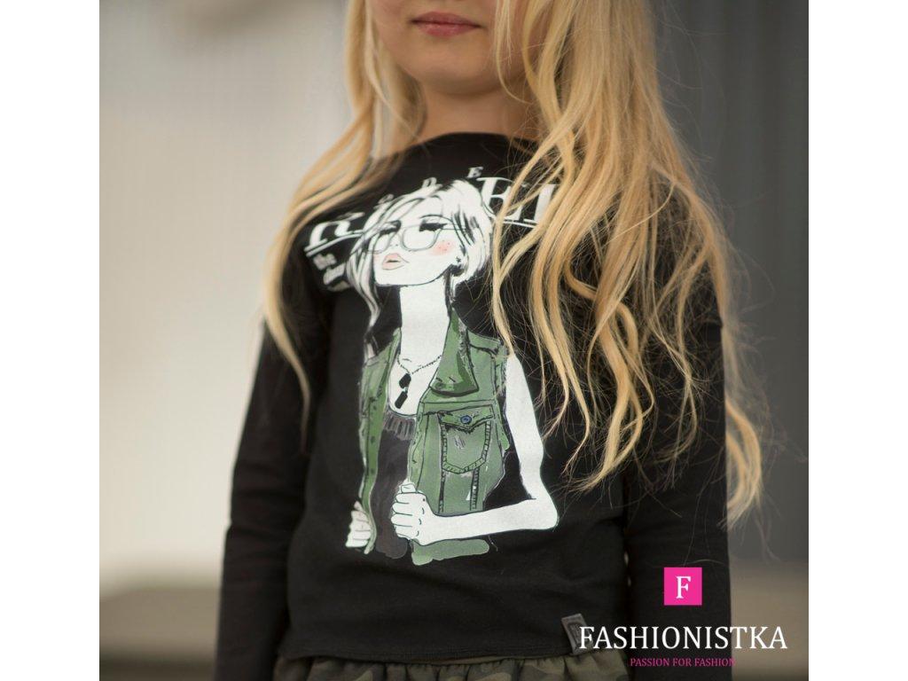 Fashionistka: Tričko pro holky ALL FOR KIDS černé