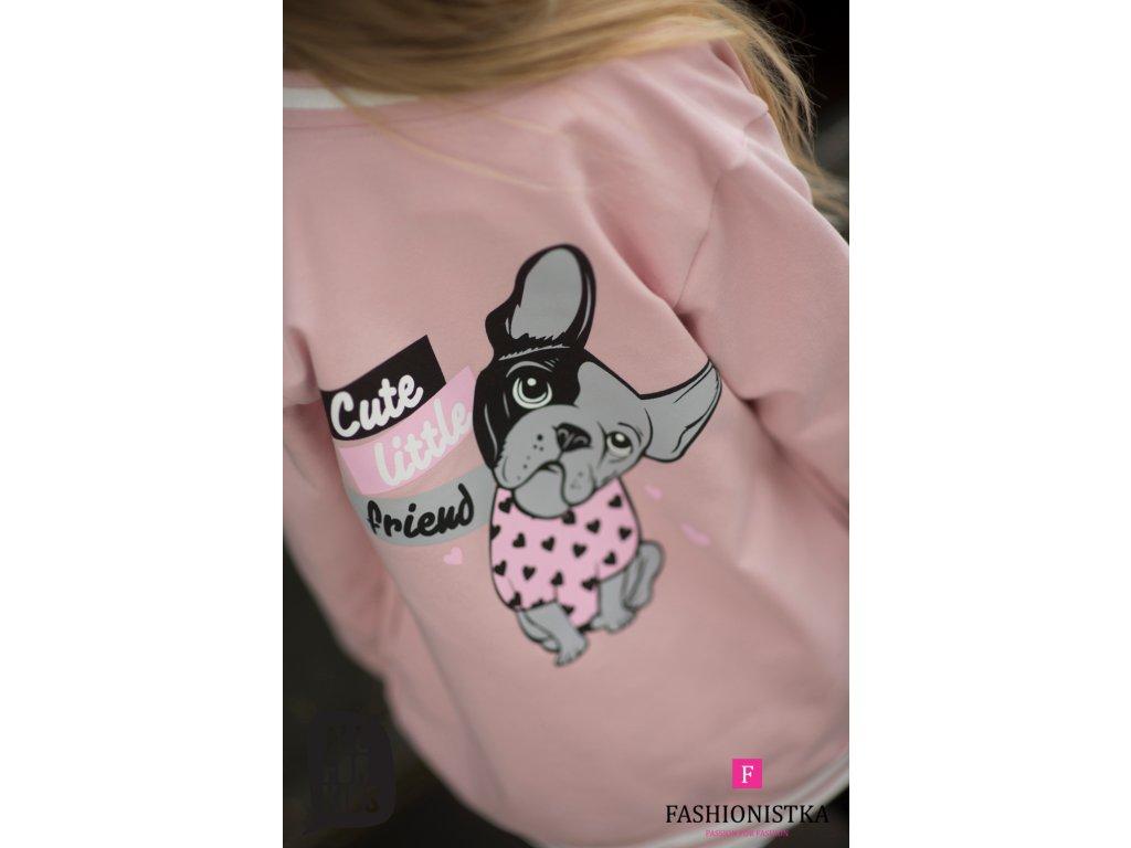 MIKINA cute ALL FOR KIDS růžová