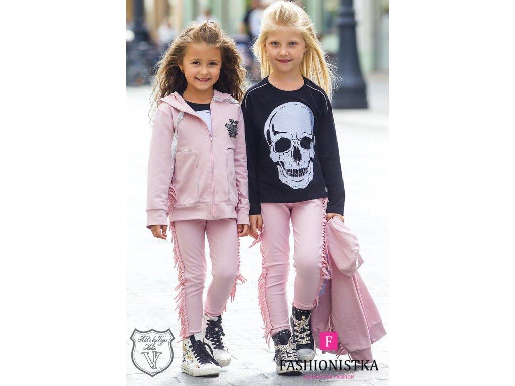 TRIČKO s lebkou KIDS by VOGA ITALIA černé