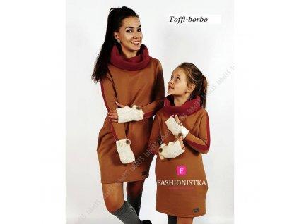 TUNIKA dívčí Mum&Girl hnědá
