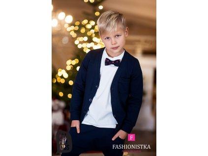Fashionistka: SVETR na knoflíky ALL FOR KIDS modrý