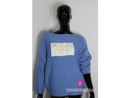 Dámský svetr modrý