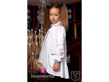 TUKINA košilová dlouhá KIDS BY VOGA ITALIA bílá