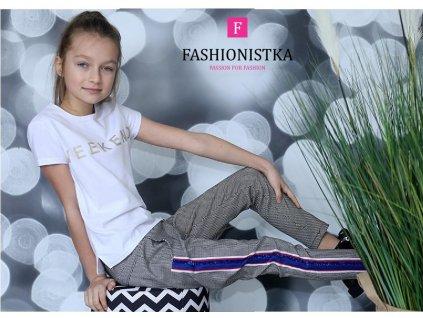 Fashionistka: TRIČKO dívčí s nápisem bílé