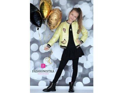 Fashionistka: BUNDA luxusní jarní/podzimní žlutá