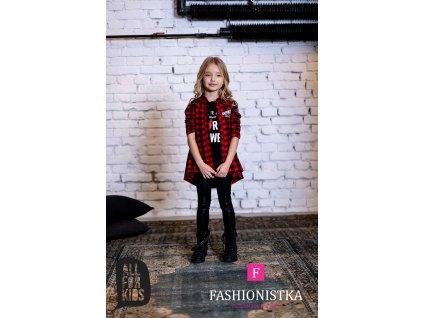 FASHIONISTKA: KOŠILE dívčí kostkovaná červenočerná