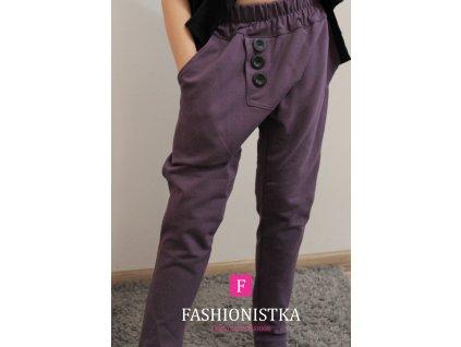 Fashionistka: BAGGY kalhoty fialové