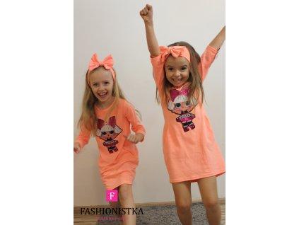 Fashionistka: TUNIKA dívčí LOL oranžová