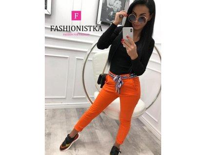 KALHOTY s barevným páskem oranžové
