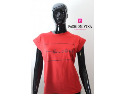 bon JOUR červené triko