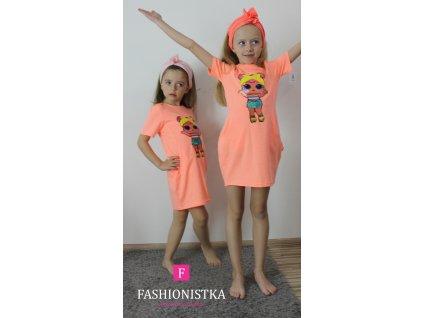 Fashionistka: TUNIKA dívčí krátký rukáv LOL oranžová