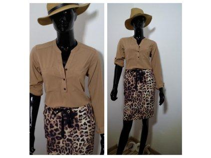SUKNĚ úzká leopardím vzorem