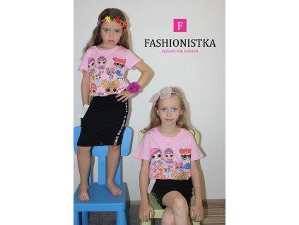 LOLky růžové tričko