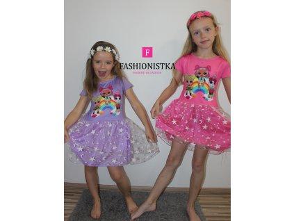 Fashionistka: ŠATY s tylovou sukýnkou LOL fialové