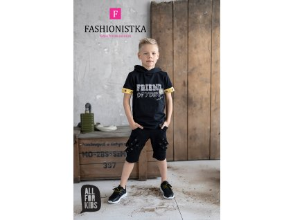 Fashionistka: SET letní ALL FOR KIDS černý