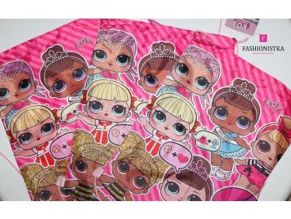 Fashionistka: BATOH pytlový LOL růžový