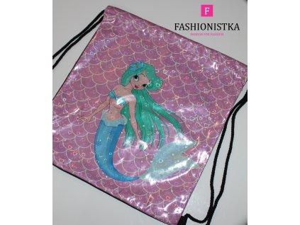 Dívčí pytlový batoh velký růžový
