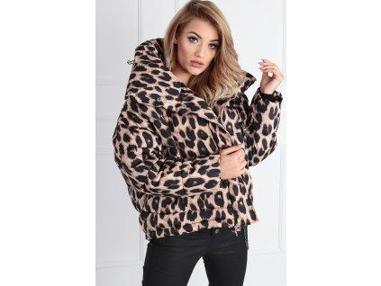 Zimní leopardí krátká bunda