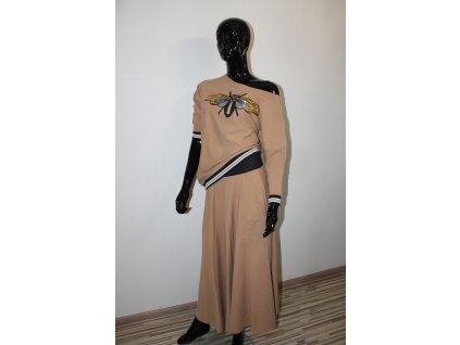 Fashionistka: SET sukňový BEE hnědý