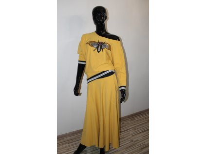 BEE sukňový  set mustard