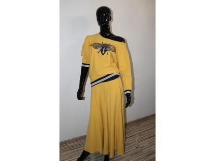 Fashionistka: SET sukňový BEE hořčicový