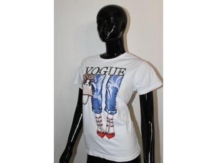 VOGUE  bílé tričko