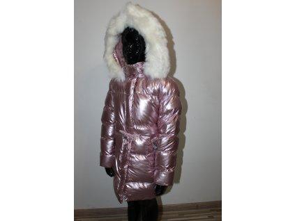 FASHIONISTKA: KABÁT zimní holčičí metalická růžová